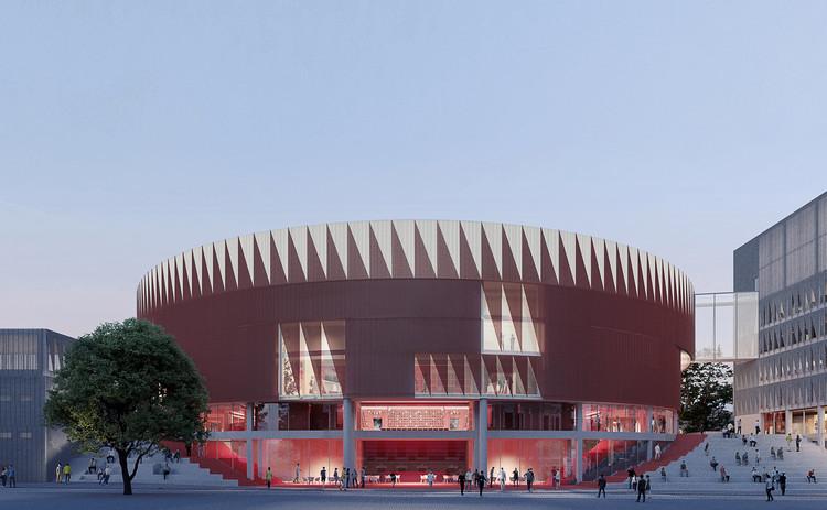 CHYBIK + KRISTOF Wins Competition to Design the Jihlava Multipurpose Arena in the Czech Republic, © Monolot