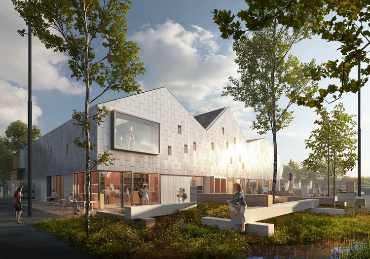 Christensen & Co. Imagines Viby Library and Cultural House in Denmark, Courtesy of Christensen & Co Architects with Primus Architects and STED cph