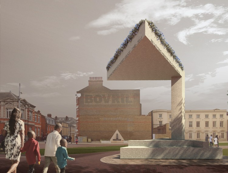 David Adjaye projeta memorial em homenagem a Cherry Groce, Cherry Groce Memorial. Cortesia de Adjaye Associates