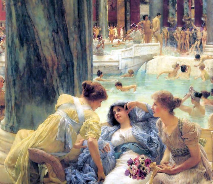 Pintura de las Termas de Caracalla (1899). Image © Lawrence Alma -Tadema [Wikimedia] Bajo dominio público