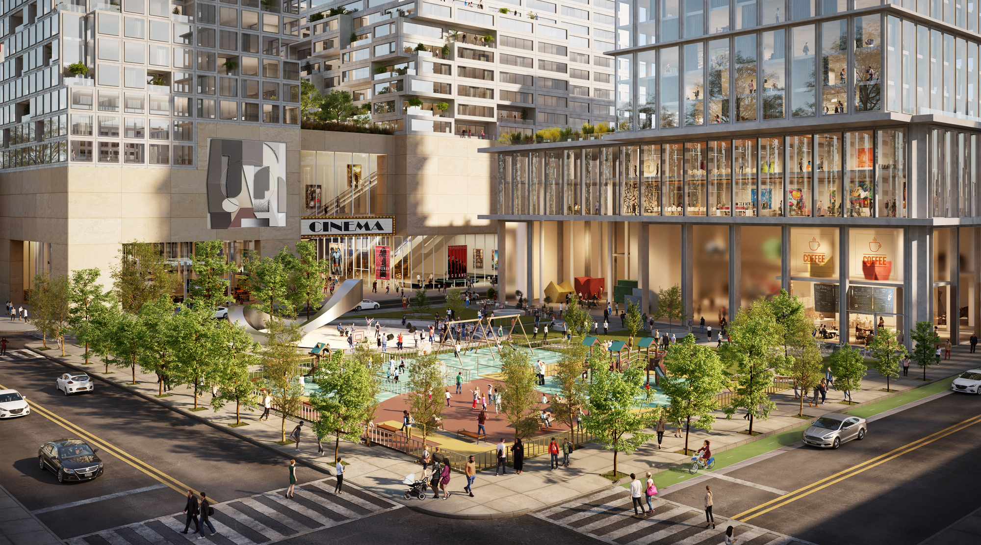 gallery of oda designs mixeduse district to revitalize