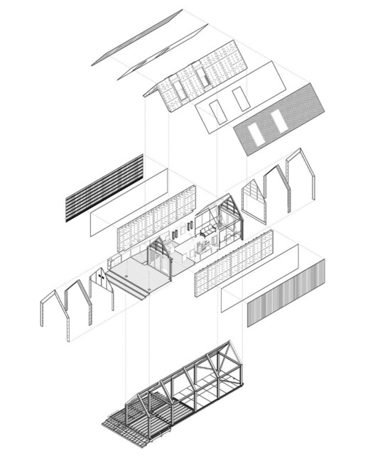 Construction diagram of The Circular Building by Arup. Image © Arup Associates