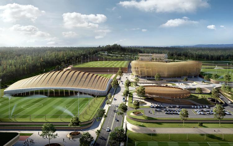 UNStudio vence concurso para Centro Nacional Coreano de Futebol em Seul, © Brick Visual