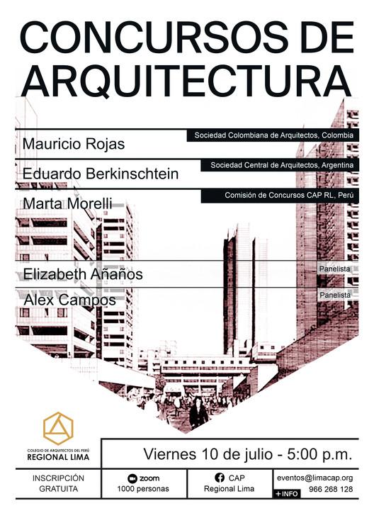 """CAP Regional Lima: 11° Conversatorio """"Concursos de Arquitectura"""", CAP Regional Lima"""