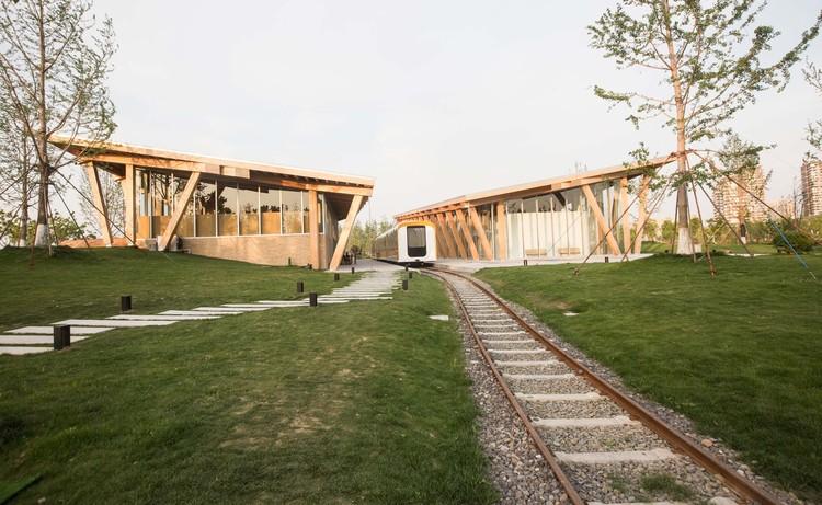 Ginkgo Swan Lake Train Station NO.2 / Hexia Architects, © Gushang Culture