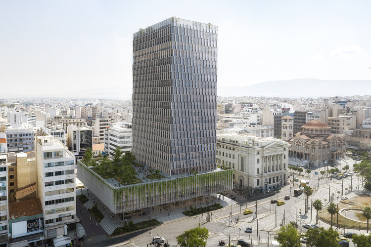 PILA Selected to Redesign the Facade of the Abandoned Piraeus Tower in Greece, Courtesy of PILA
