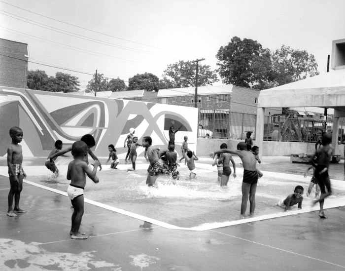 Haffen Park Small Pool - New York City. Image via NYC Parks