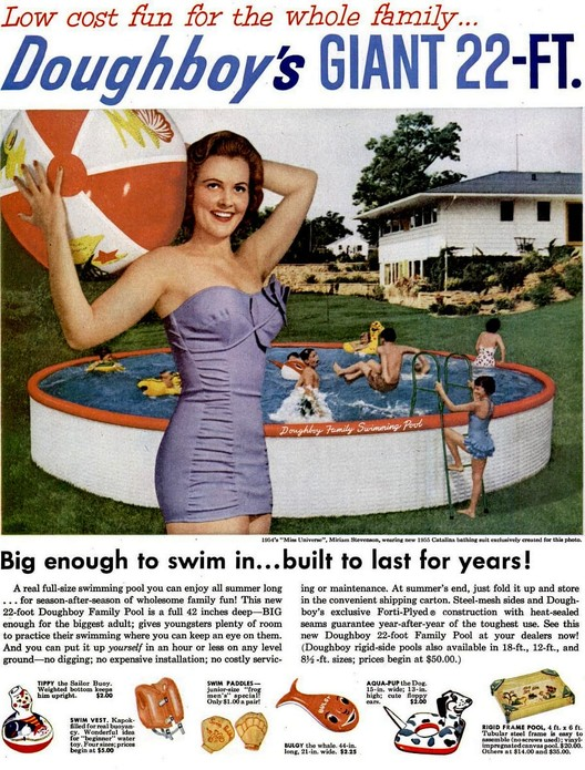 United States at home swimming pool magazine advertiesment. Image Courtesy of Doughboy Industries