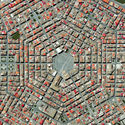 Grammichele, Italy. Created by @benjaminrgrant, source imagery: @digitalglobe
