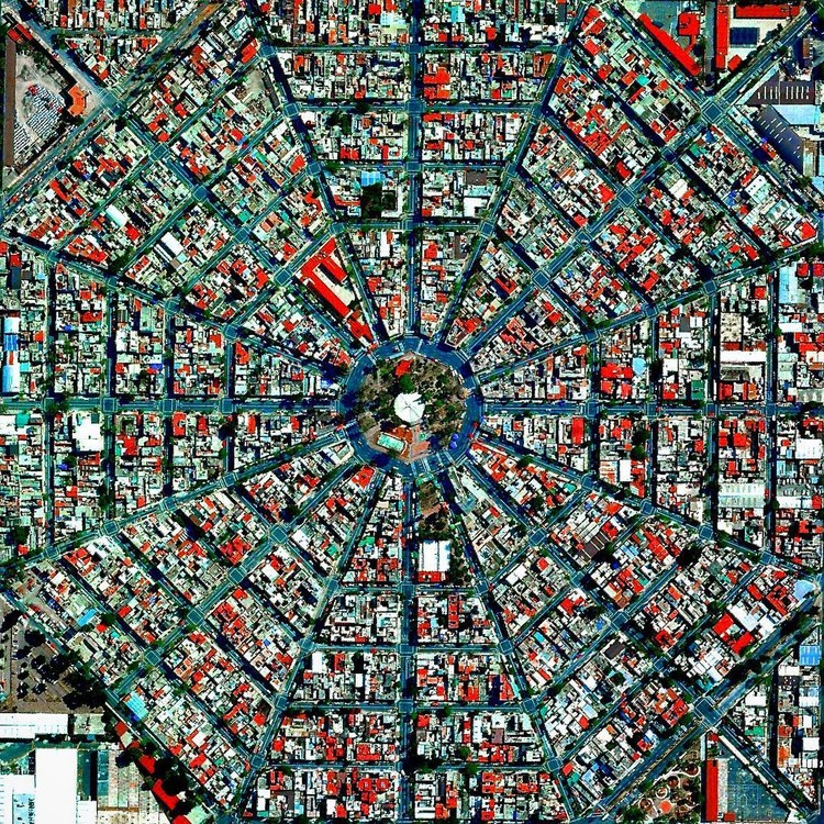 Mexico City, Mexico. Created by @benjaminrgrant, source imagery: @digitalglobe