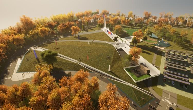 Drury University Design Team Creates Crystalline Veteran Memorial for Arkansas, Courtesy of Drury University