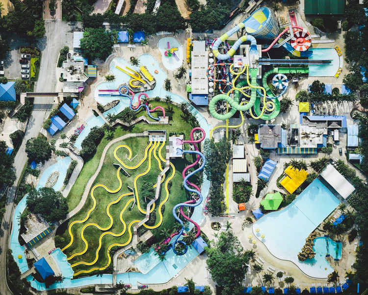 Bird's Eye Gallery: Amusement Parks, Source: Nearmap. Image Courtesy of Daily Overview