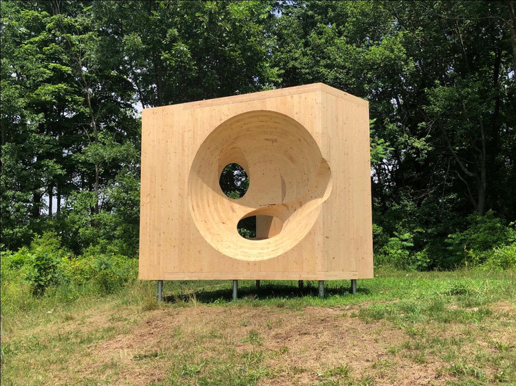 Steven Holl Explores CLT Subtraction to Create a Playful Sculpture in Ghent, NY, © Steven Holl Architects