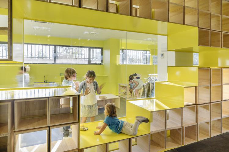 Mejorando el entorno educativo con el enfoque de Reggio Emilia, English for Fun Flagship in Madrid / Lorena del Río + Iñaqui Carnicero. Image © Imagen Subliminal