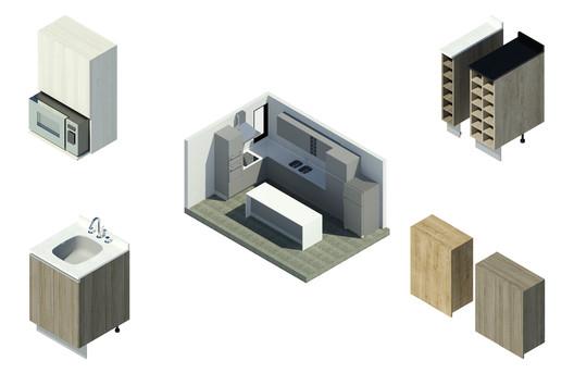Descarga módulos BIM de cocina y modela tu proyecto en 4 pasos