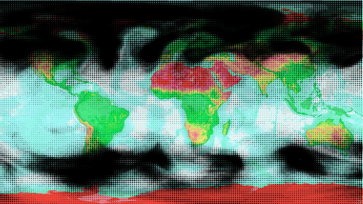 Maps of emissions- O3. Image Courtesy of 300.000 Km/s
