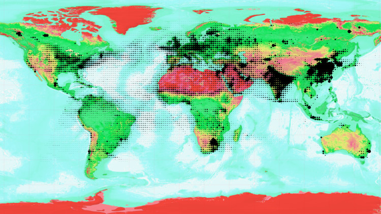 Maps of emissions- NO2. Image Courtesy of 300.000 Km/s