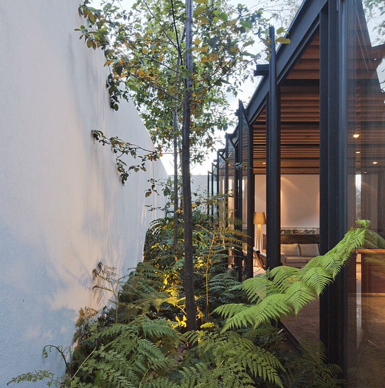 Houses with Side Patios: Bountiful Natural Light and Ventilation, Capistrano 9 / CCA Centro de Colaboración Arquitectónica. Image © Onnis Luque