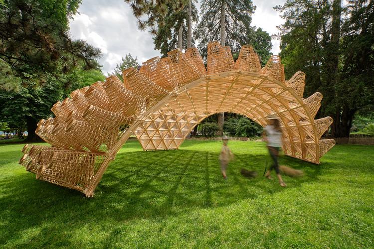 Wicker Pavilion / DJA, © Eriks Bozis