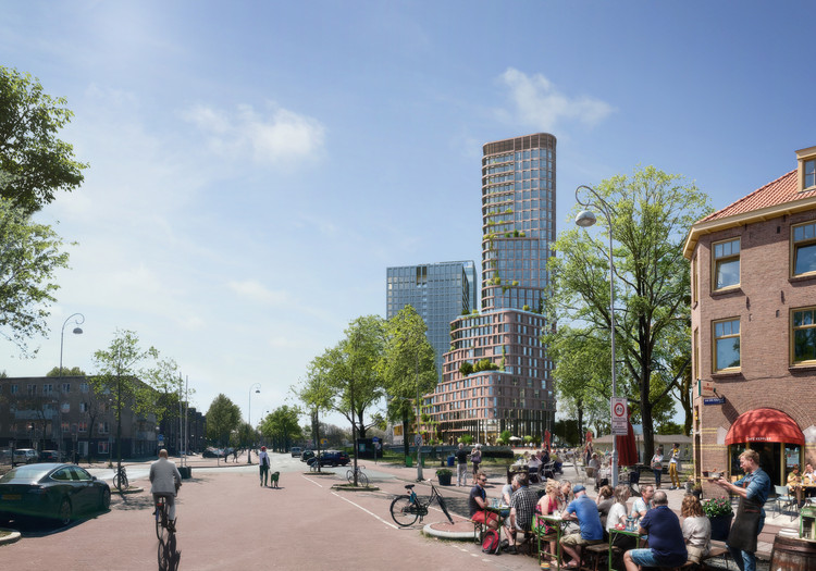 Mecanoo Wins Competition to Design Amsterdam's New Vertical Neighborhood, Courtesy of Mecanoo