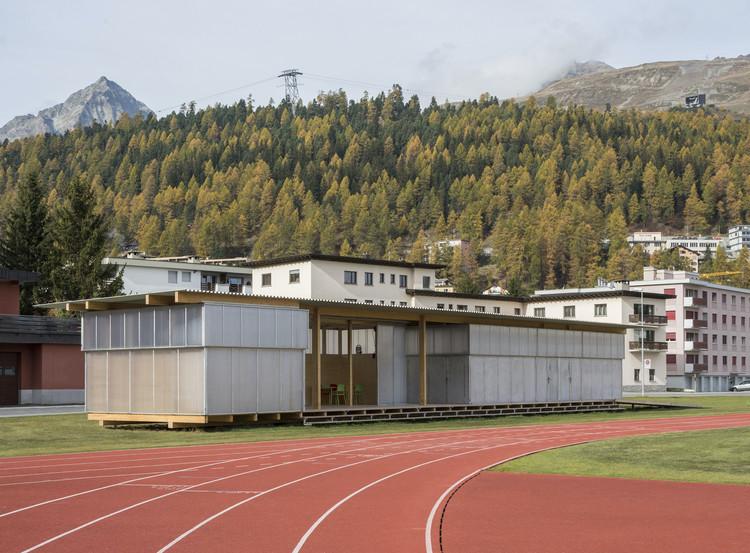 HTWZ St. Moritz Altitude Training and Competition Centre / Krähenbühl Architekten Studio + Walter Bieler AG, © Laura Egger