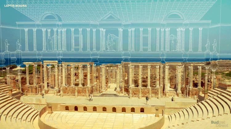 6 Sítios tombados pela UNESCO restaurados virtualmente, Leptis Magna. Image © Budget Direct