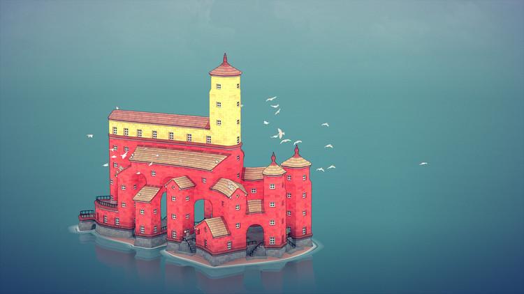 Townscaper, un nuevo videojuego de construcción, permite crear tu propia ciudad, Cortesía de Steam