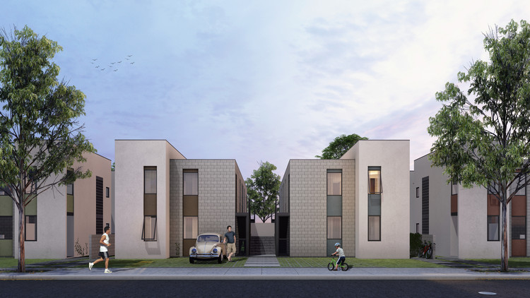 CAU/GO divulga resultado de concurso público para habitação de interesse social, Primeiro Lugar. Cortesia de Oficina Urbana de Arquitetura