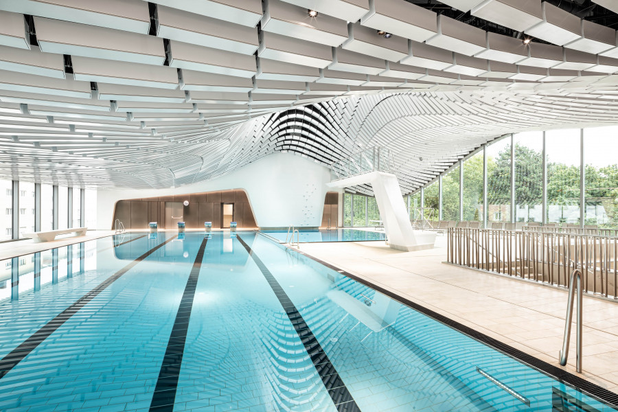 Fluid Dynamics Iconic Swimming Pools Around The World Archdaily