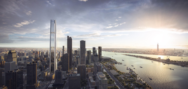 SOM Designs Tallest Structure in Nanjing, China, Surpassing the Zifeng Tower, Courtesy of SOM