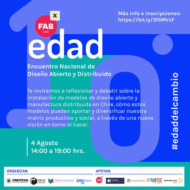 EDAD - Encuentro Nacional de Diseño Abierto y Distribuido, Diseño gráfico por Mercedes Baldovinos, FabLab UdeChile.