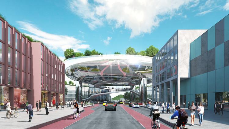 MVRDV vence concurso para o novo plano diretor de Karlsruhe na Alemanha, Cortesia de MVRDV