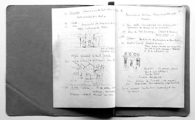 Lecciones desde la historia: Rogelio Salmona y Pierre Francastel, Figura 4. Apuntes de Rogelio Salmona de sus cursos de Sociología del Arte . Image Cortesía de Fundación Rogelio Salmona