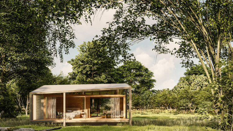 Tiny House Made from Recycled Materials Begins Construction in Bali, Courtesy of Stilt Studios