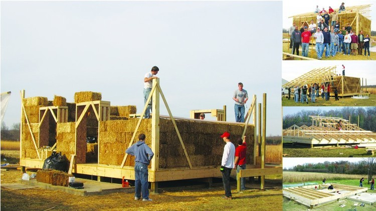 Straw Bale Eco Center / Students of Ball State University Department of Architecture. Image Cortesia de Gray Architecture