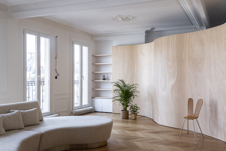Tendencias en Diseño de Interiores 2020: Biofilia, Chubby y Fluidez,Wood Ribbon Apartment / Toledano+Architects © Salem Mostefaoui