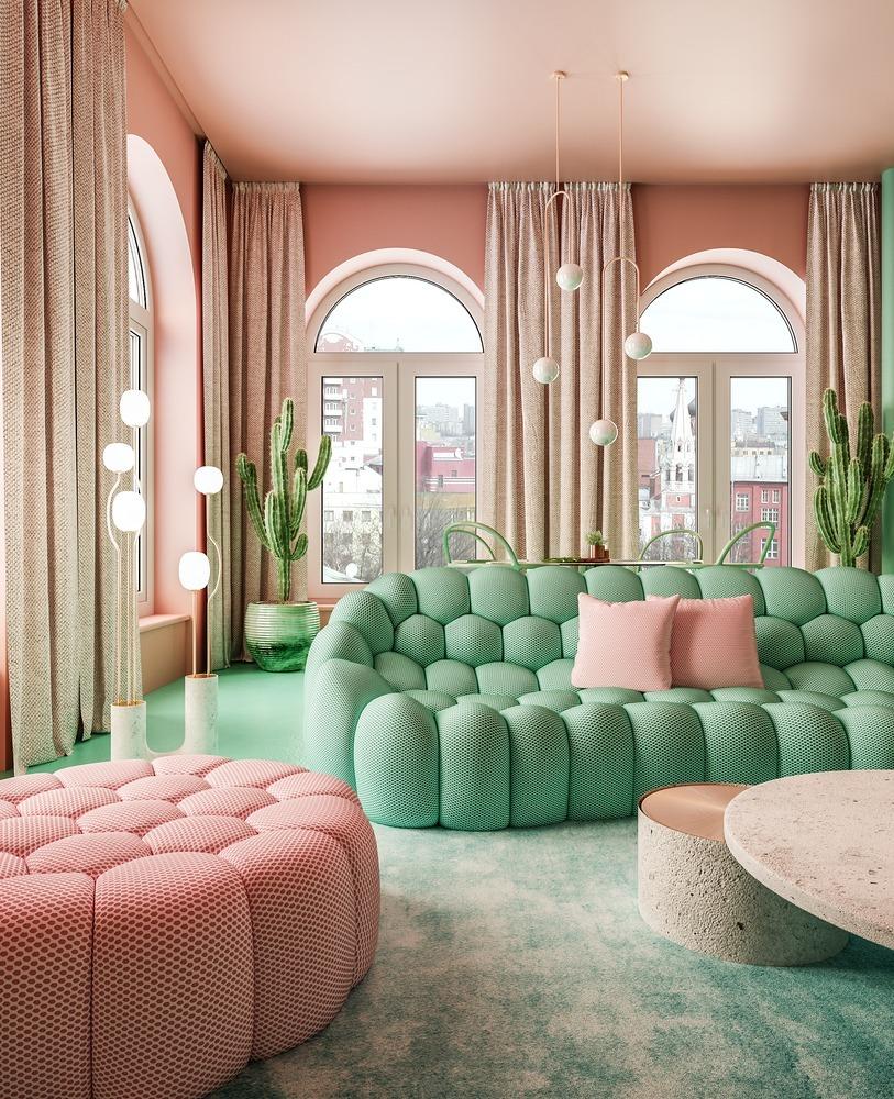 Tendencias en Diseño de Interiores 2020: Biofilia, Chubby y Fluidez,Apartment New York / Reutov Design © Reutov Dmitry, Gerner Ekaterina
