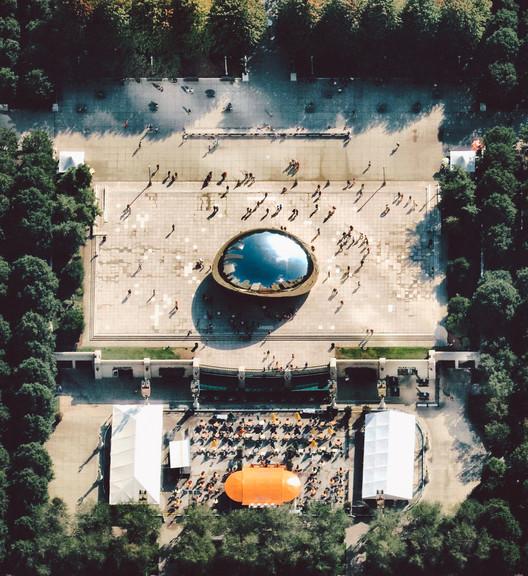 Chicago's Millennium Park. Image © Daily Overview | @nearmap