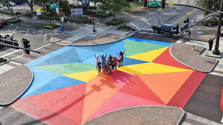 10 Actions to Improve Streets for Children, St. Petersburg, Florida Mural by Cecilia Lueza. Image © Beth Reynolds