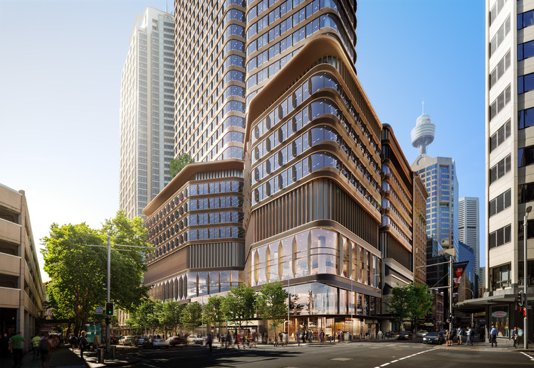 Foster + Partners Unveils its Latest Project, a Mixed-Use Over Station Development in Central Sydney, Australia, Pitt Street Over Station Development, Sydney. Image Courtesy of Foster + Partners