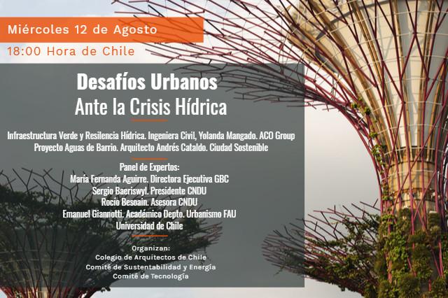 "Charla ""Desafíos Urbanos ante la Crisis Hídrica"""