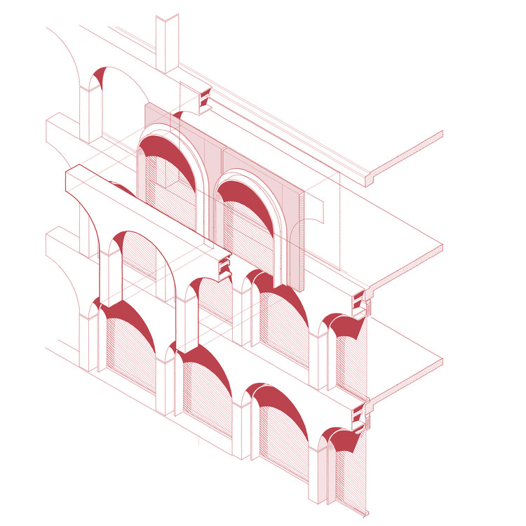 Pre-fabricated GCR façade concept developed with COX Architecture. Image Cortesia de The Donnies