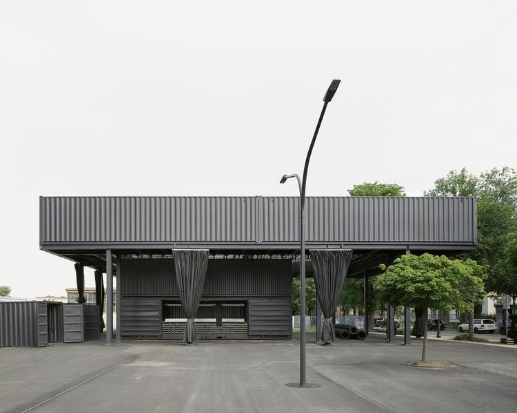 Saxony State Exhibition 2020 Entrance Pavilion / AFF architekten + Georgi Architektur + Ilja Oelschlägel Produkt Design, © Hans Christian Schink