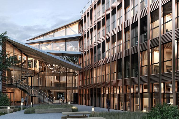 Maison ONF. Image Courtesy of Vincent Lavergne Architecture Urbanisme