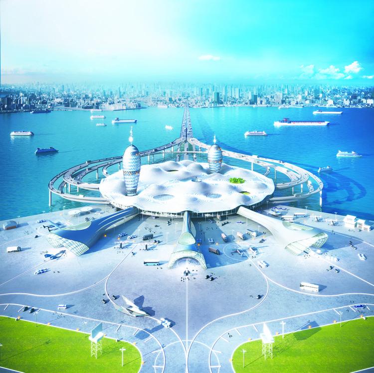 SPACEPORT CITY. Image Courtesy of Noiz Architects