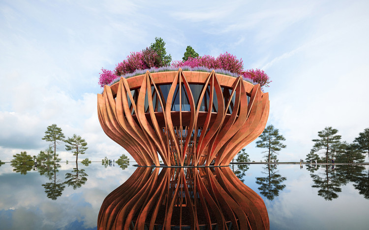 The Tower Flower . Image Courtesy of VHA Architects