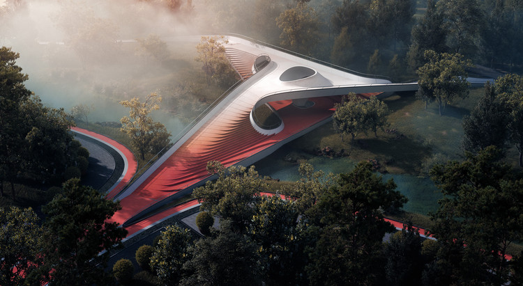 A Space Transportation Hub in Japan and a Humanitarian Response in Egypt: 10 Unbuilt Projects Submitted by our Readers, Pirouette Bridge. Image Courtesy of ATAH