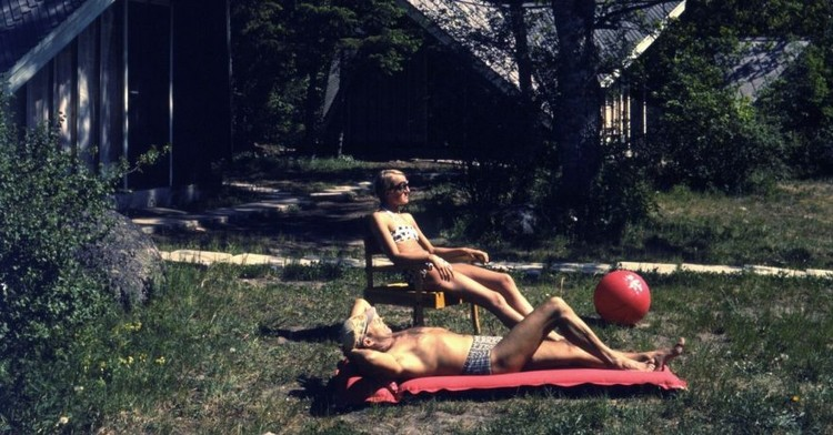 Leisure Spaces: Holidays and Architecture in 20th Century Estonia, Camping ground near Tallinn, 1960ies. Photo: Estonian National Museum