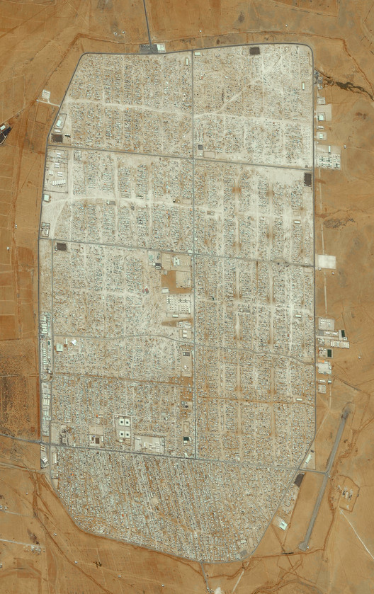 Zaatari refugee camp in Mafraq, Jordan. Created by @benjaminrgrant, source imagery: Terra Bella