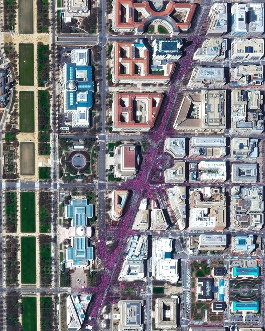 March For Our Lives in Washington, D.C. Created by @benjaminrgrant, source imagery: @digitalglobe